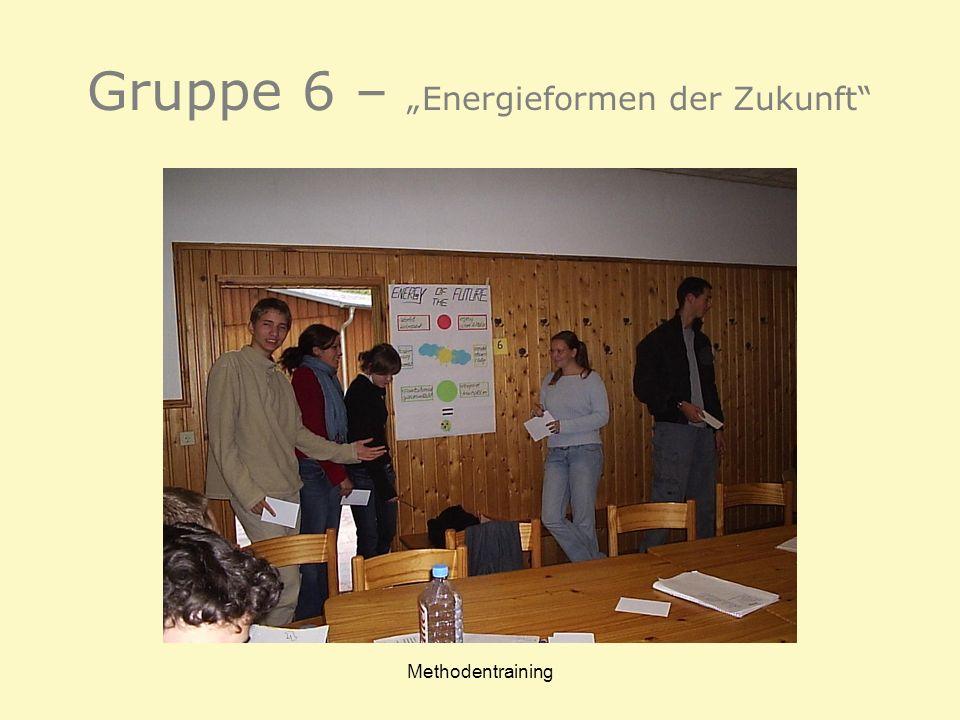 Methodentraining Gruppe 6 – Energieformen der Zukunft