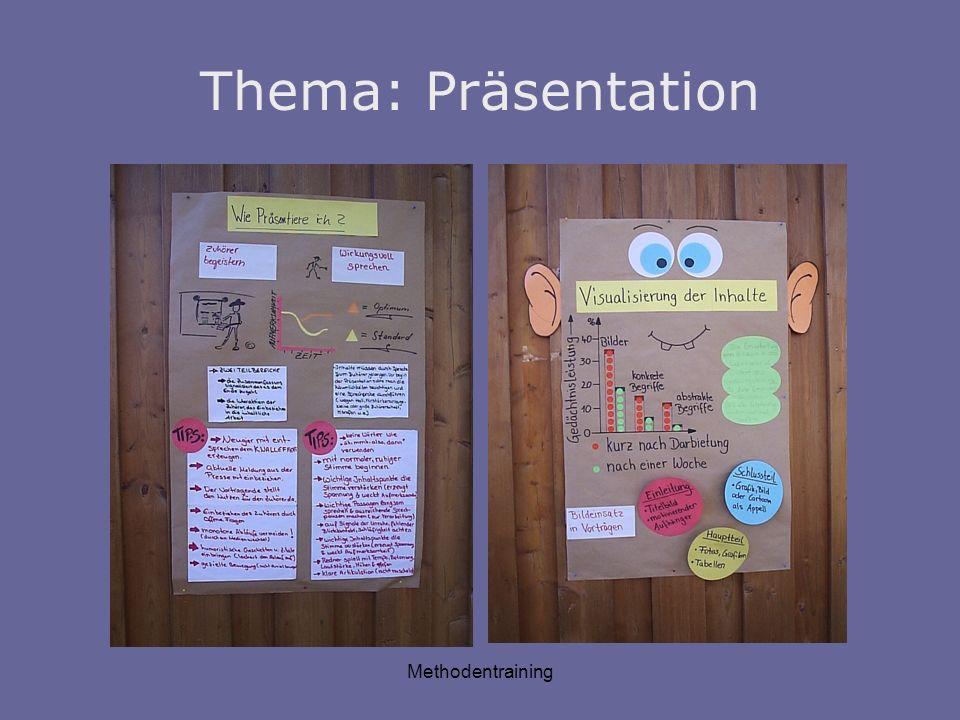 Methodentraining Thema: Präsentation
