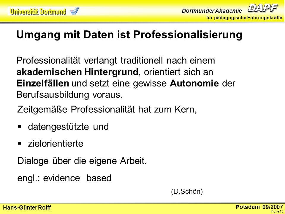 Potsdam 09/2007 Dortmunder Akademie für pädagogische Führungskräfte Hans-Günter Rolff Folie 14 4.