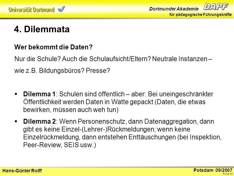 Potsdam 09/2007 Dortmunder Akademie für pädagogische Führungskräfte Hans-Günter Rolff Folie 15 5.