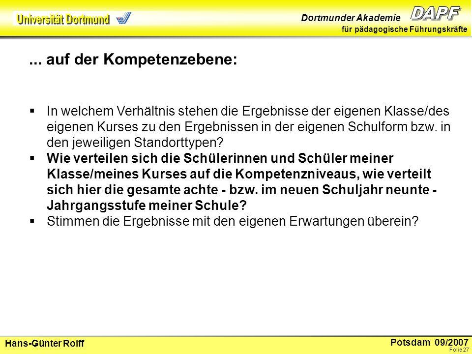 Potsdam 09/2007 Dortmunder Akademie für pädagogische Führungskräfte Hans-Günter Rolff Folie 28...
