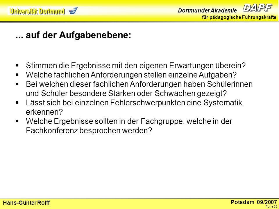 Potsdam 09/2007 Dortmunder Akademie für pädagogische Führungskräfte Hans-Günter Rolff Folie 29 2.