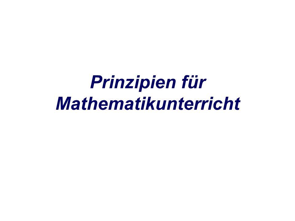Prinzipien für Mathematikunterricht