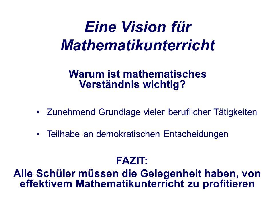 Eine Vision für Mathematikunterricht Teilhabe an demokratischen Entscheidungen Warum ist mathematisches Verständnis wichtig.