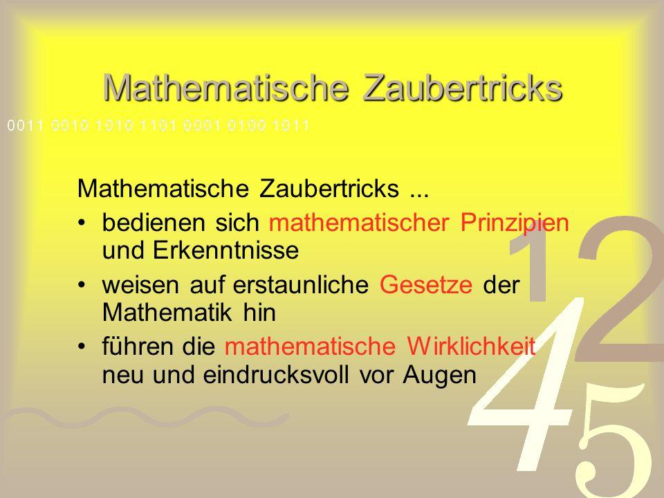Mathematische Zaubertricks Mathematische Zaubertricks...