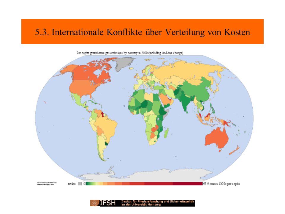 5.3. Internationale Konflikte über Verteilung von Kosten