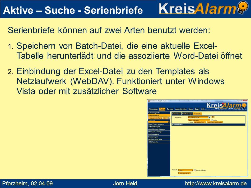 Serienbriefe können auf zwei Arten benutzt werden: 1. Speichern von Batch-Datei, die eine aktuelle Excel- Tabelle herunterlädt und die assoziierte Wor