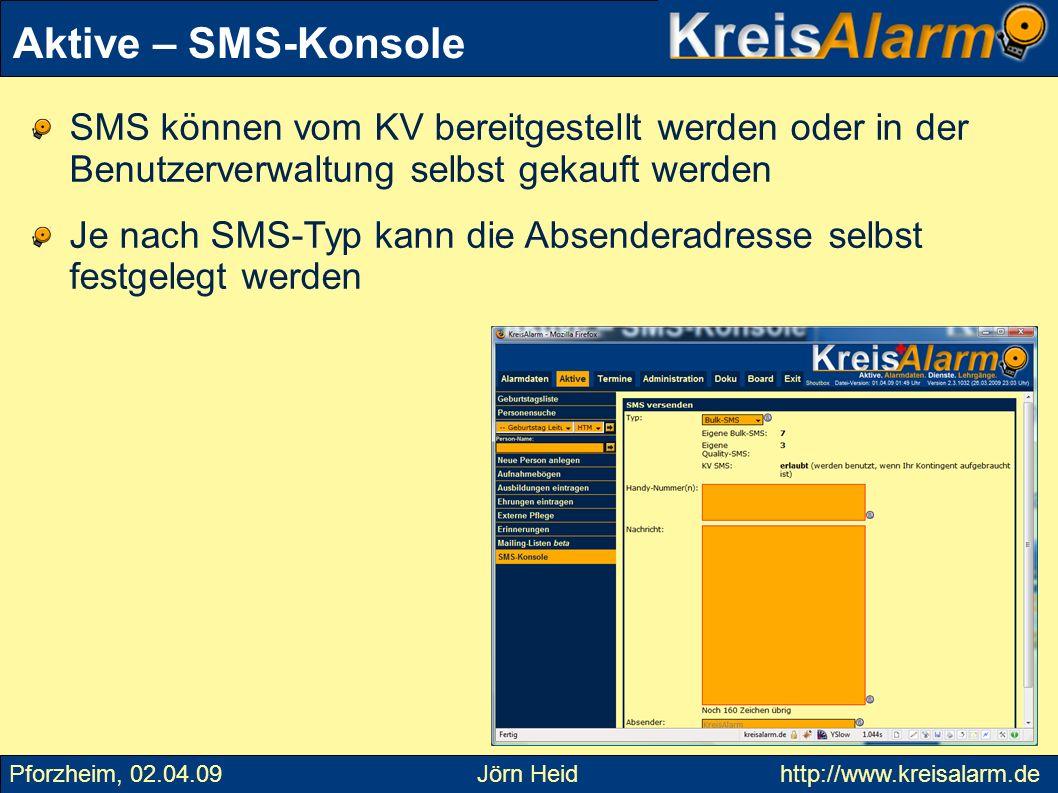 SMS können vom KV bereitgestellt werden oder in der Benutzerverwaltung selbst gekauft werden Je nach SMS-Typ kann die Absenderadresse selbst festgeleg