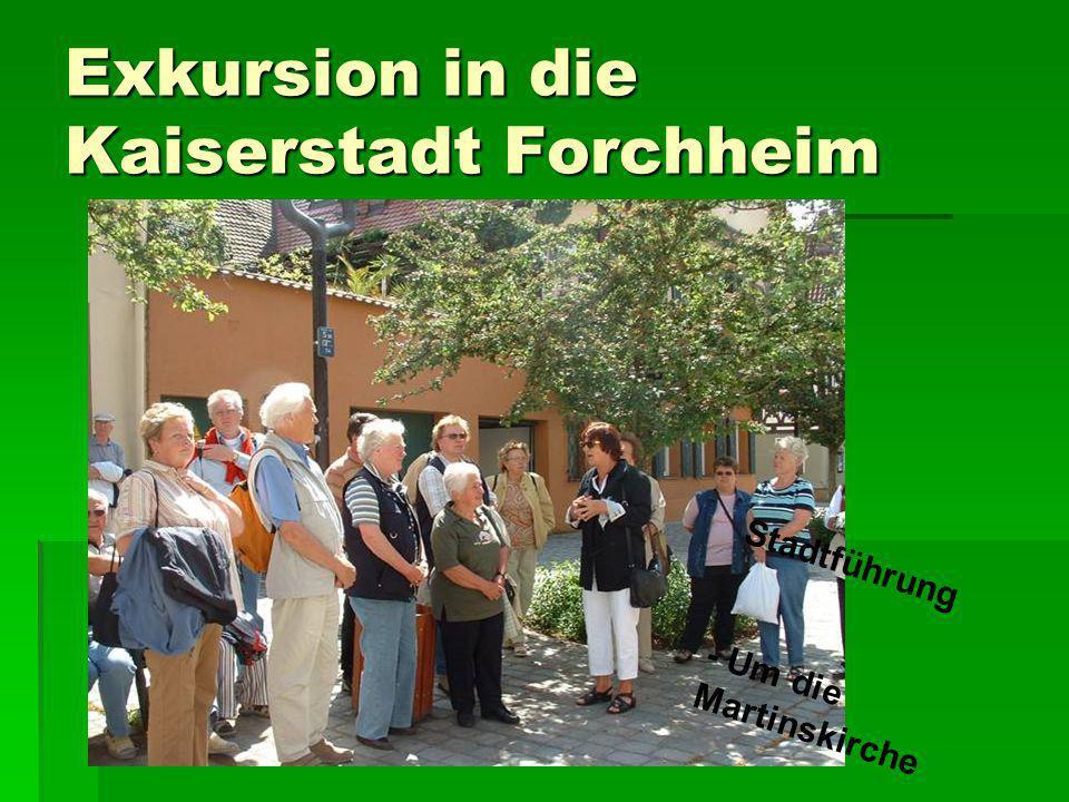 Exkursion in die Kaiserstadt Forchheim Stadtführung - Um die Martinskirche