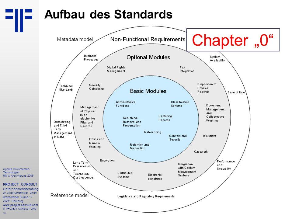 32 Update Dokumenten- Technologien RM & Archivierung 2009 PROJECT CONSULT Unternehmensberatung Dr. Ulrich Kampffmeyer GmbH Breitenfelder Straße 17 202