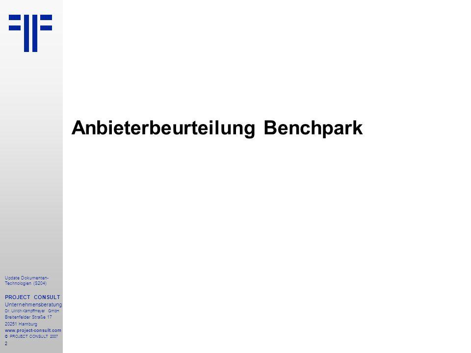 2 Update Dokumenten- Technologien (S204) PROJECT CONSULT Unternehmensberatung Dr.