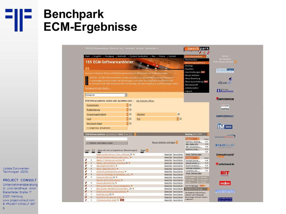 9 Update Dokumenten- Technologien (S204) PROJECT CONSULT Unternehmensberatung Dr.
