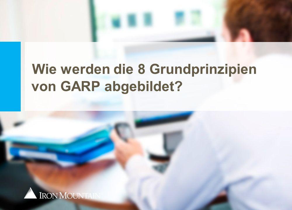Wie werden die 8 Grundprinzipien von GARP abgebildet?