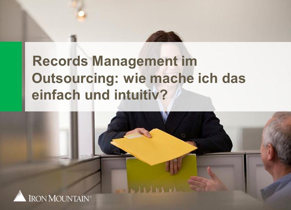 21 Records Management im Outsourcing: wie mache ich das einfach und intuitiv?