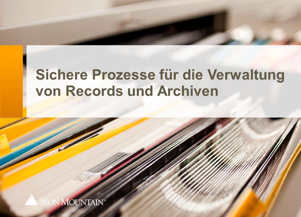 Der Informationsweg zum Dienstleister Kurier scannt Box/Akte vor Ort Übergabe des Verwahrten Ggf.