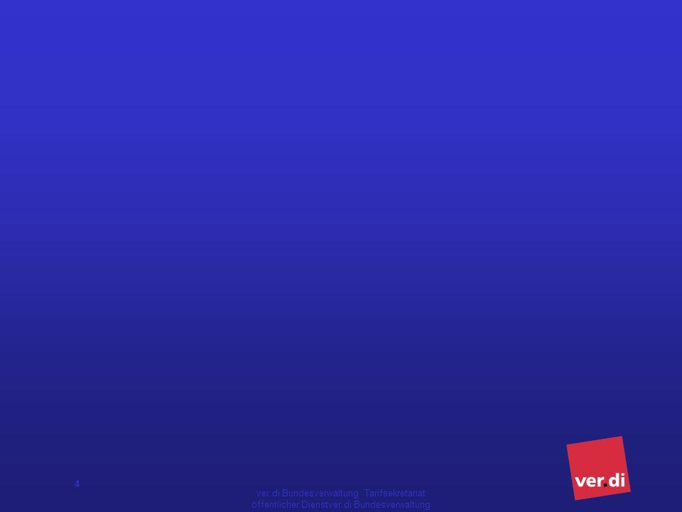 5 Vorgeschichte der Neugestaltung öD 1994 Beschluss Tarifpolitisches Programm ÖTV und DAG 1997 Beschluss Tarifpolitisches Programm der ÖTV 11/2001 Beschluss der BTK zur Bildung einer Modernisierungskommission zur grundlegenden Modernisierung des Tarifrechts des öffentlichen Dienstes 04/2002 Beschluss der BTK Abschluss Prozessvereinbarung 01/2003 im Rahmen des Abschlusses der Tarifrunde Prozessvereinbarung für die Tarifverhandlungen zur Neugestaltung des Tarifrechts des öffentlichen Dienstes (TVöD) 05./06.05.2003 Beschluss der BTK zu Zielen und Verfahren des Prozesses zur Neugestaltung des Tarifrechts