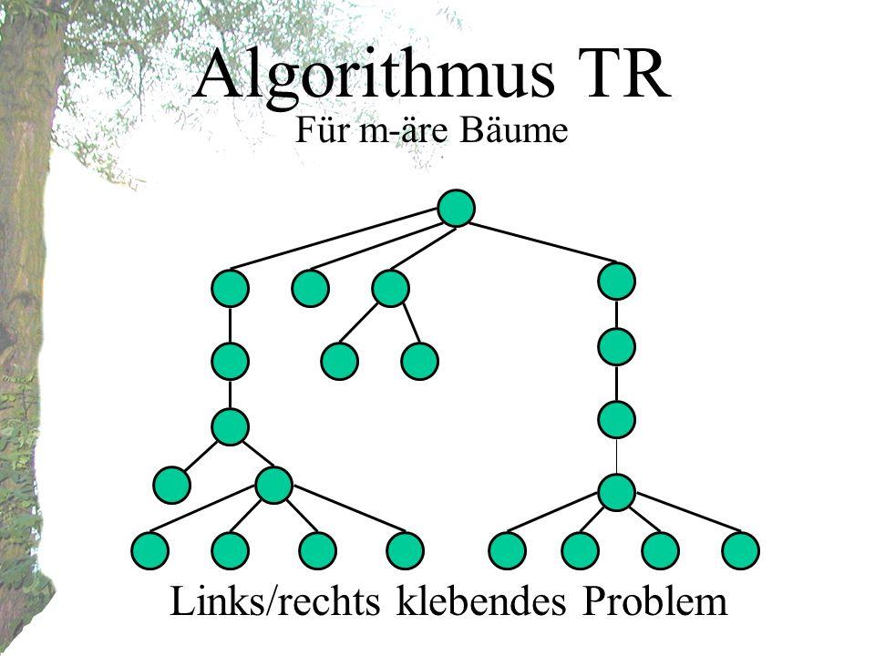 Algorithmus TR Für m-äre Bäume Links/rechts klebendes Problem