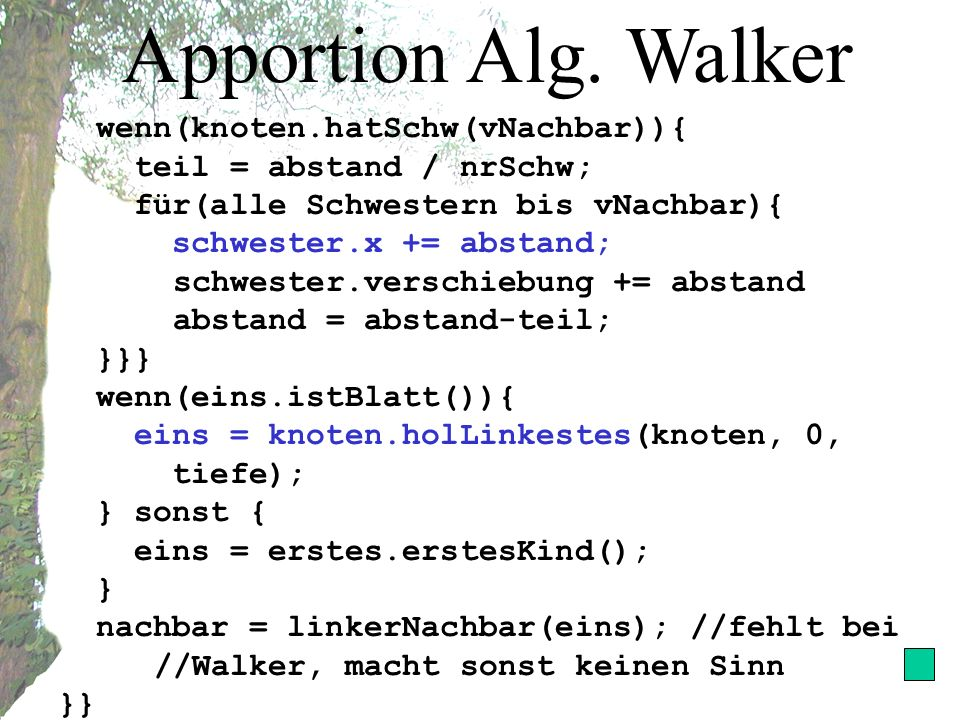 Apportion Alg.