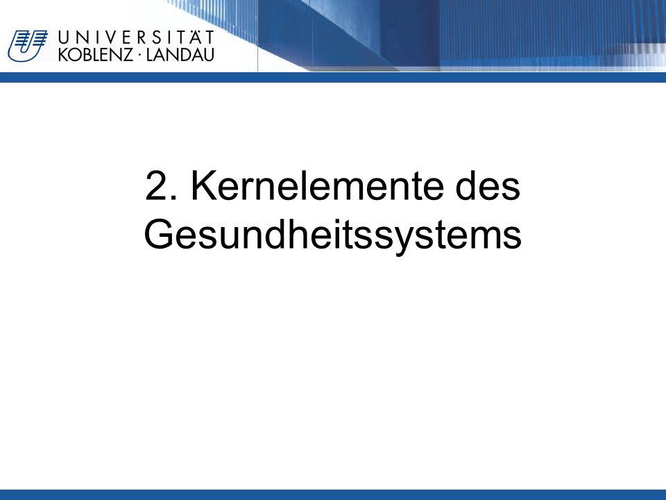 2. Kernelemente des Gesundheitssystems