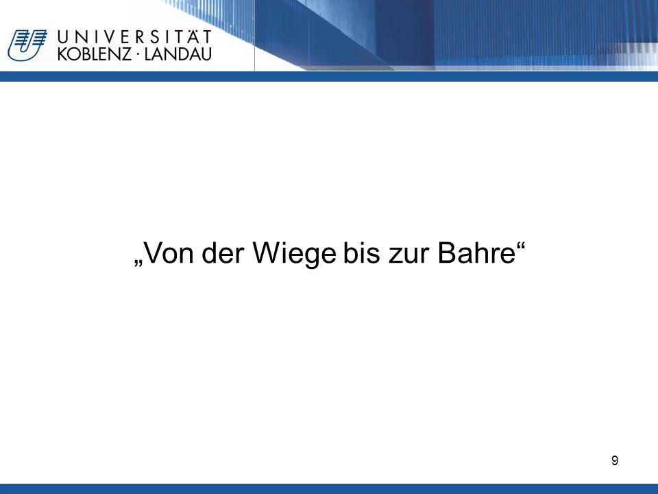 Gesundheitspolitik im europäischen Vergleich - Deutschland9 Von der Wiege bis zur Bahre