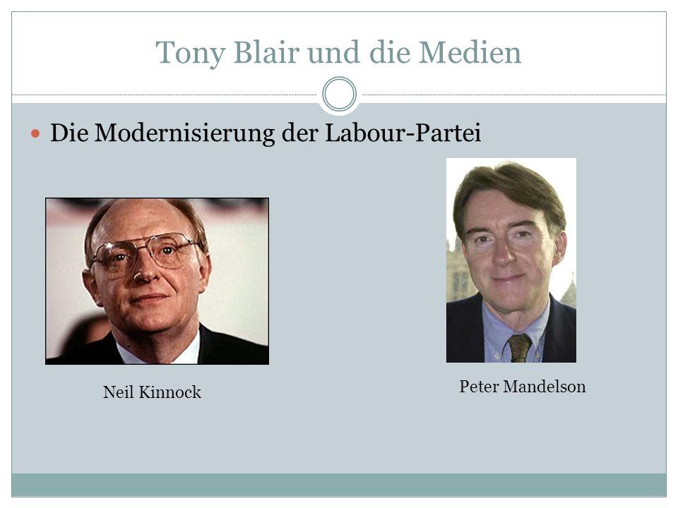 Tony Blair und die Medien Die Modernisierung der Labour-Partei Neil Kinnock Peter Mandelson