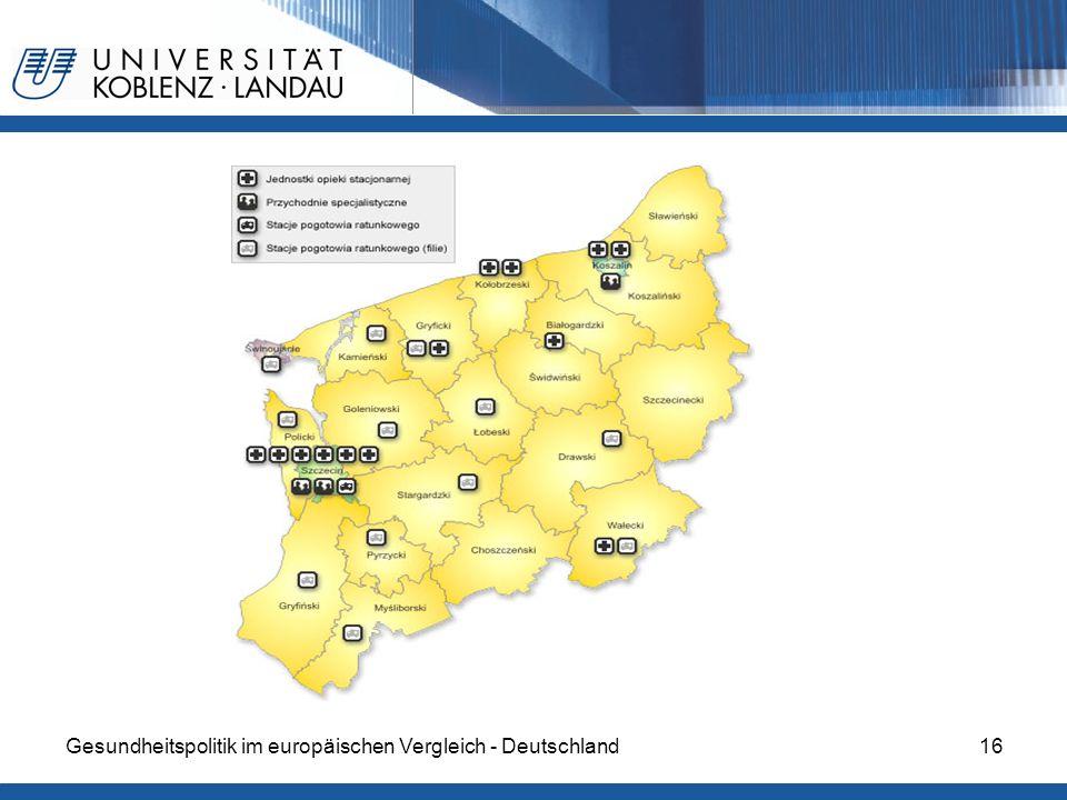 Gesundheitspolitik im europäischen Vergleich - Deutschland16