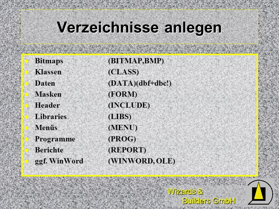Wizards & Builders GmbH Datennavigation (3) Refresh der abhängigen Reiter: Refresh der abhängigen Reiter: Gesampositionierung durch Auswahl-grid bzw.