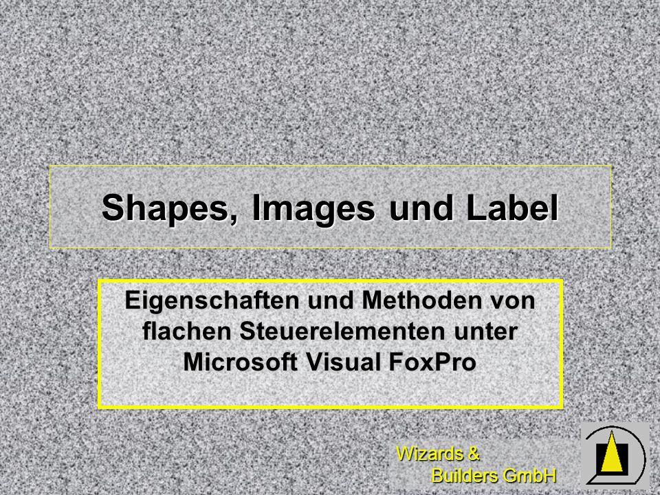 Wizards & Builders GmbH Shapes, Images und Label Eigenschaften und Methoden von flachen Steuerelementen unter Microsoft Visual FoxPro