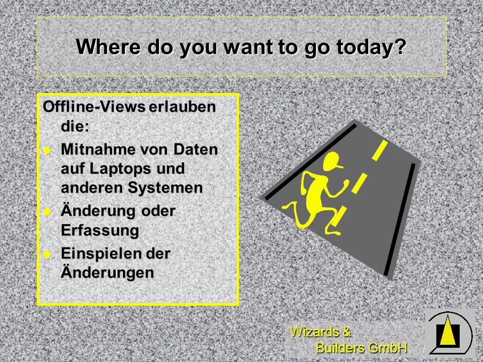Wizards & Builders GmbH Themenübersicht Wer benötigt Offline-Views Wer benötigt Offline-Views Wiederholung Arbeiten mit Views Wiederholung Arbeiten mi