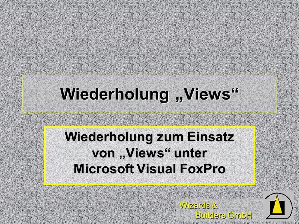 Wizards & Builders GmbH Wer benötigt Offline-Views? Offensichtliche Anwender: Road warrior, Handelsreisende/Vertreter für Auftragserfassung vor Ort Of