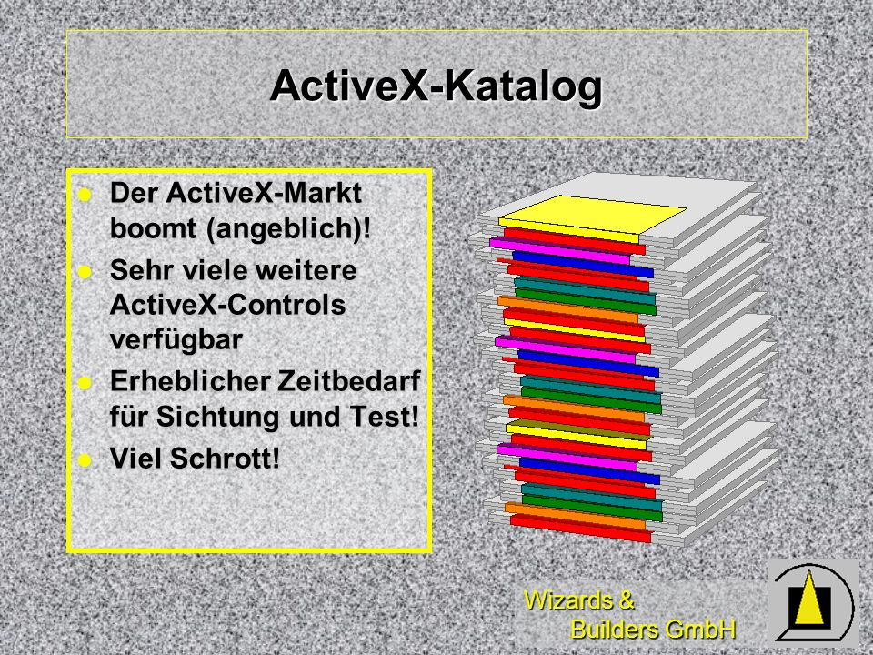 Wizards & Builders GmbH ActiveX-Katalog Der ActiveX-Markt boomt (angeblich).