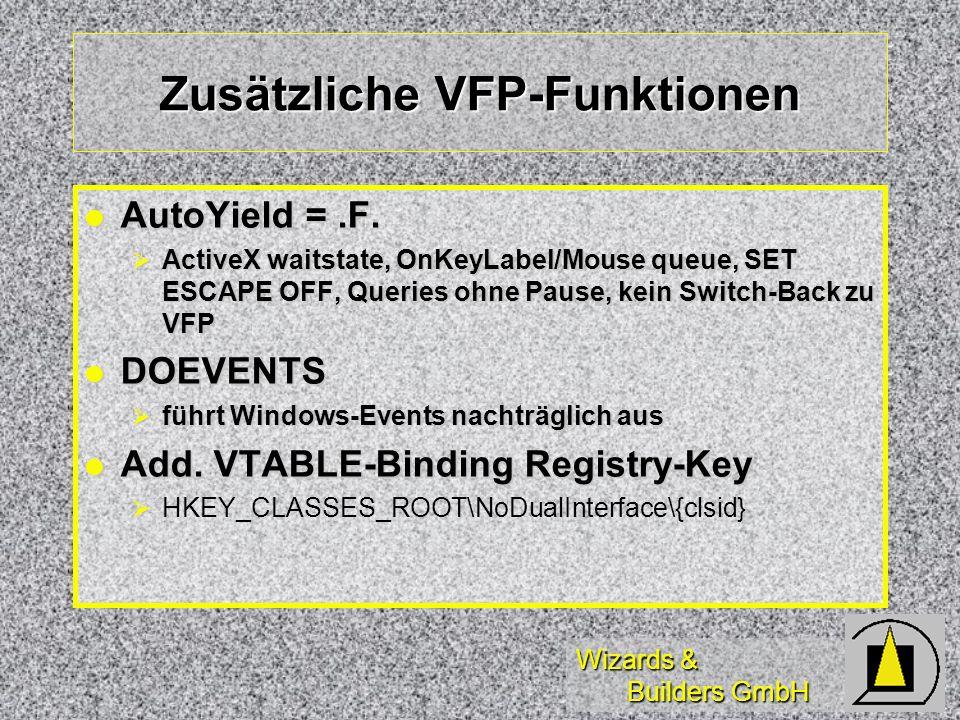 Wizards & Builders GmbH Zusätzliche VFP-Funktionen AutoYield =.F.