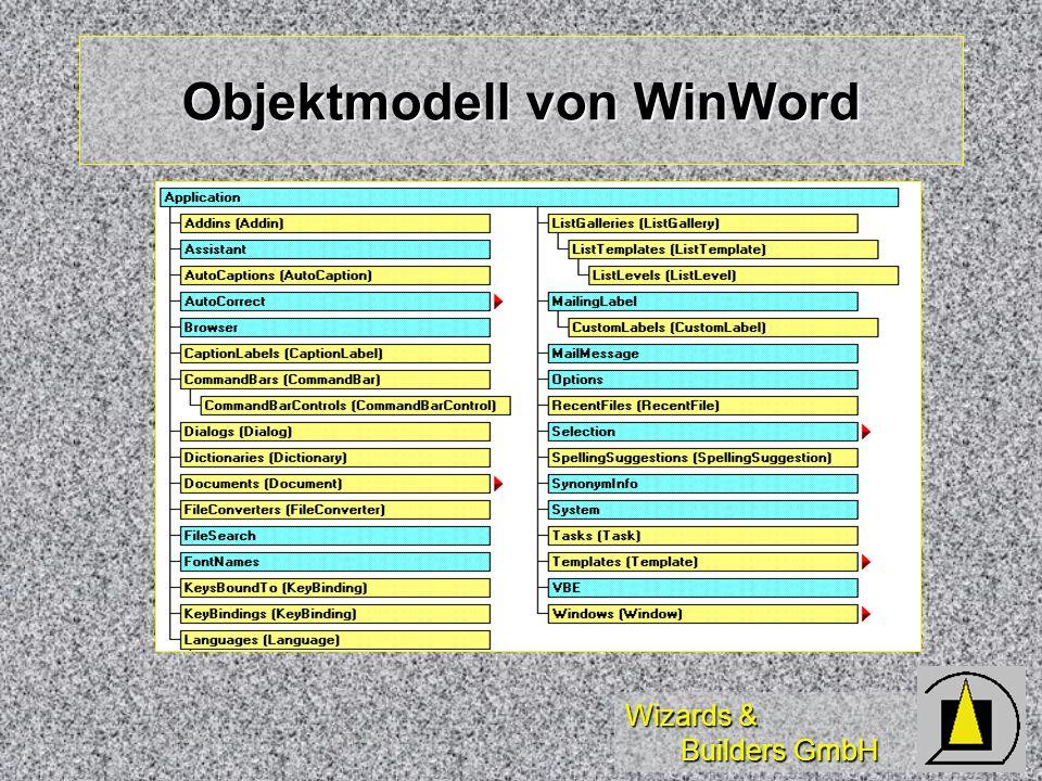 Wizards & Builders GmbH Objektmodell von WinWord