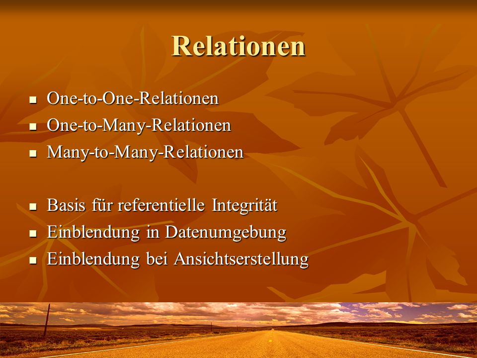 Relationen One-to-One-Relationen One-to-One-Relationen One-to-Many-Relationen One-to-Many-Relationen Many-to-Many-Relationen Many-to-Many-Relationen B