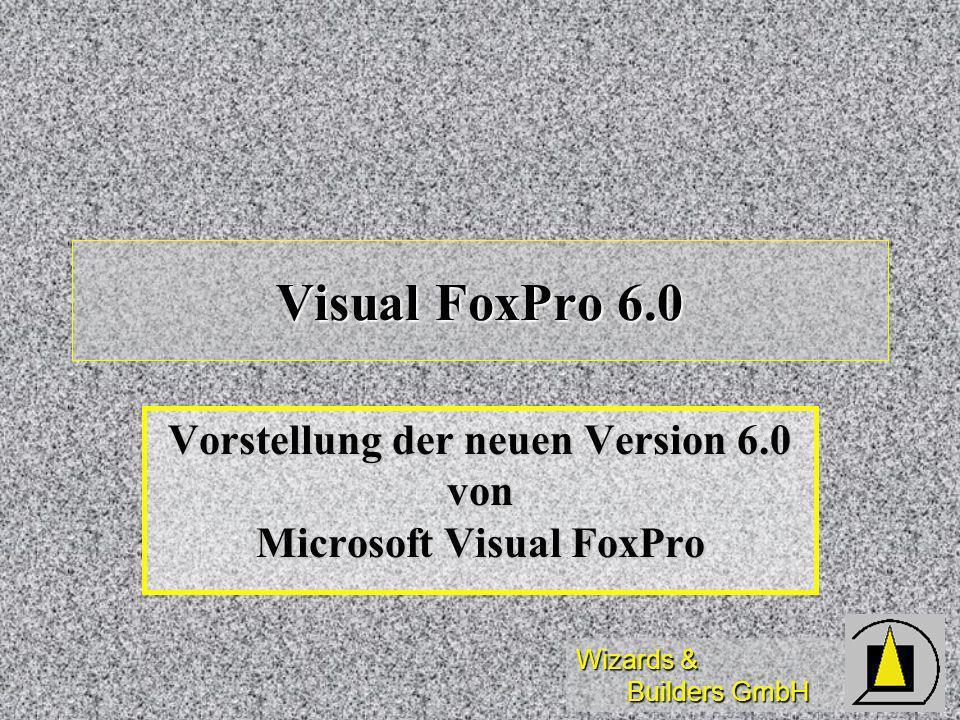 Wizards & Builders GmbH Visual FoxPro 6.0 Vorstellung der neuen Version 6.0 von Microsoft Visual FoxPro