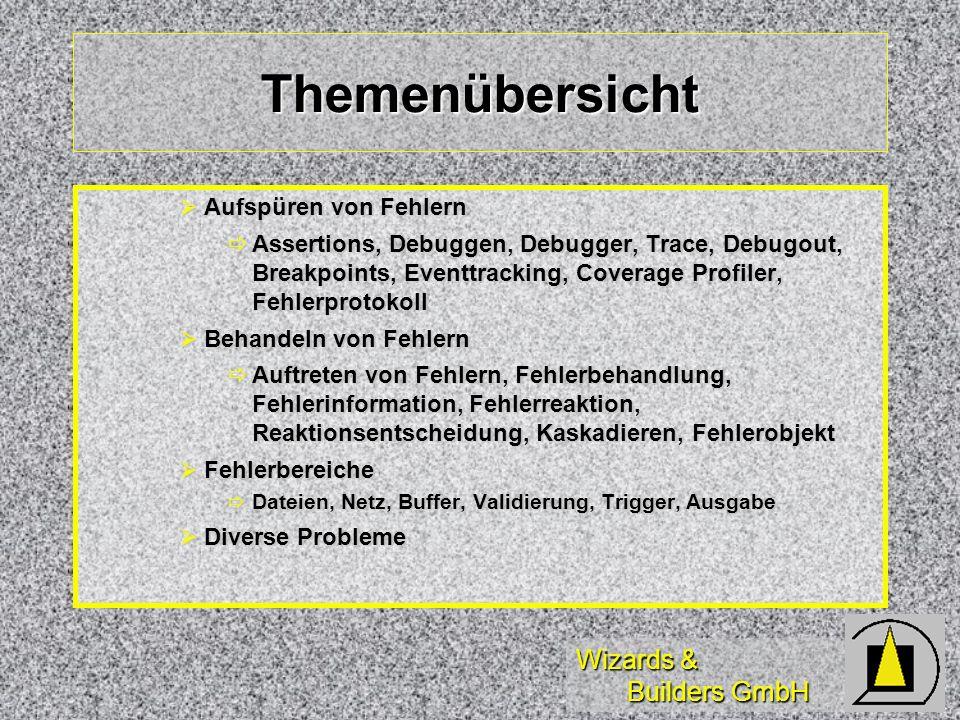 Wizards & Builders GmbH Behandlung Dateifehler Tabelle oder Datenbank nicht in Datenumgebung, ggf.