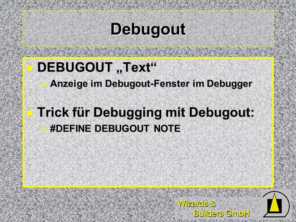 Wizards & Builders GmbH Behandlung UserDefined-Fehler In selbstdefinierten SQL-Statements oder Ausgabeabfragen ggf.
