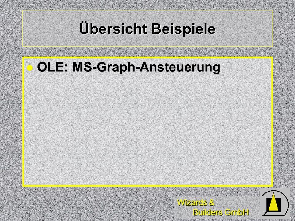 Wizards & Builders GmbH Übersicht Beispiele OLE: MS-Graph-Ansteuerung OLE: MS-Graph-Ansteuerung
