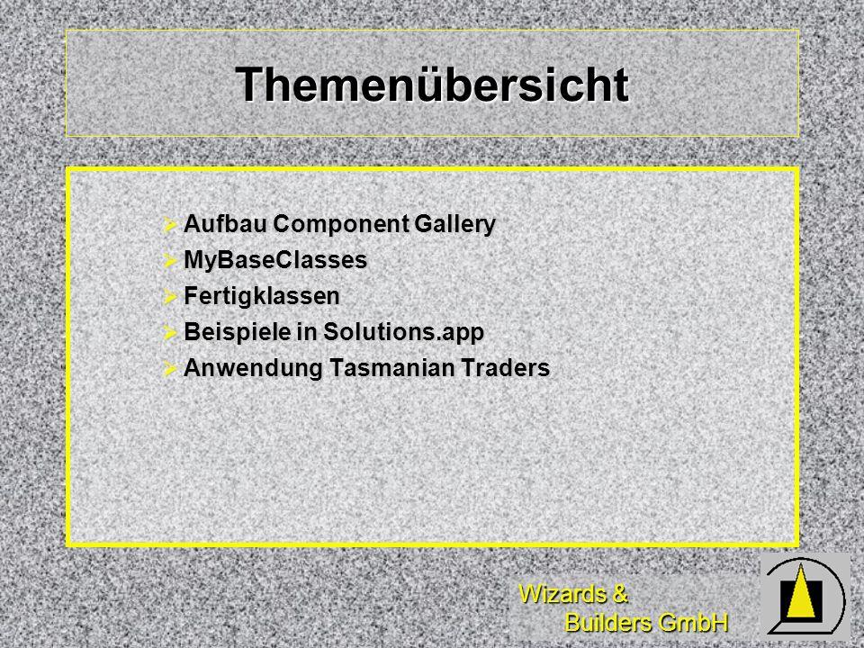 Wizards & Builders GmbH Component Gallery Einführung in die Arbeit mit der Component Gallery in Microsoft Visual FoxPro