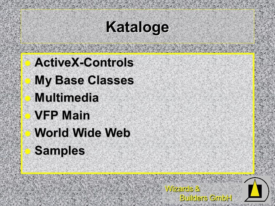 Wizards & Builders GmbH Catalog ActiveX-Controls Installed Controls Installed Controls Servers Servers Tools Tools CliReg32 CliReg32 DCOMConfig DCOMConfig Remote Connection Manager Remote Connection Manager Automation Manager Automation Manager