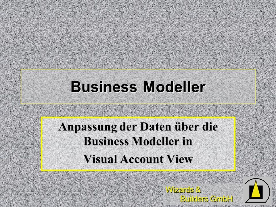 Wizards & Builders GmbH Business Modeller Anpassung der Daten über die Business Modeller in Visual Account View