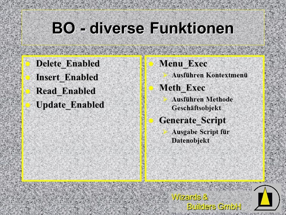 Wizards & Builders GmbH BO - diverse Funktionen Delete_Enabled Delete_Enabled Insert_Enabled Insert_Enabled Read_Enabled Read_Enabled Update_Enabled U