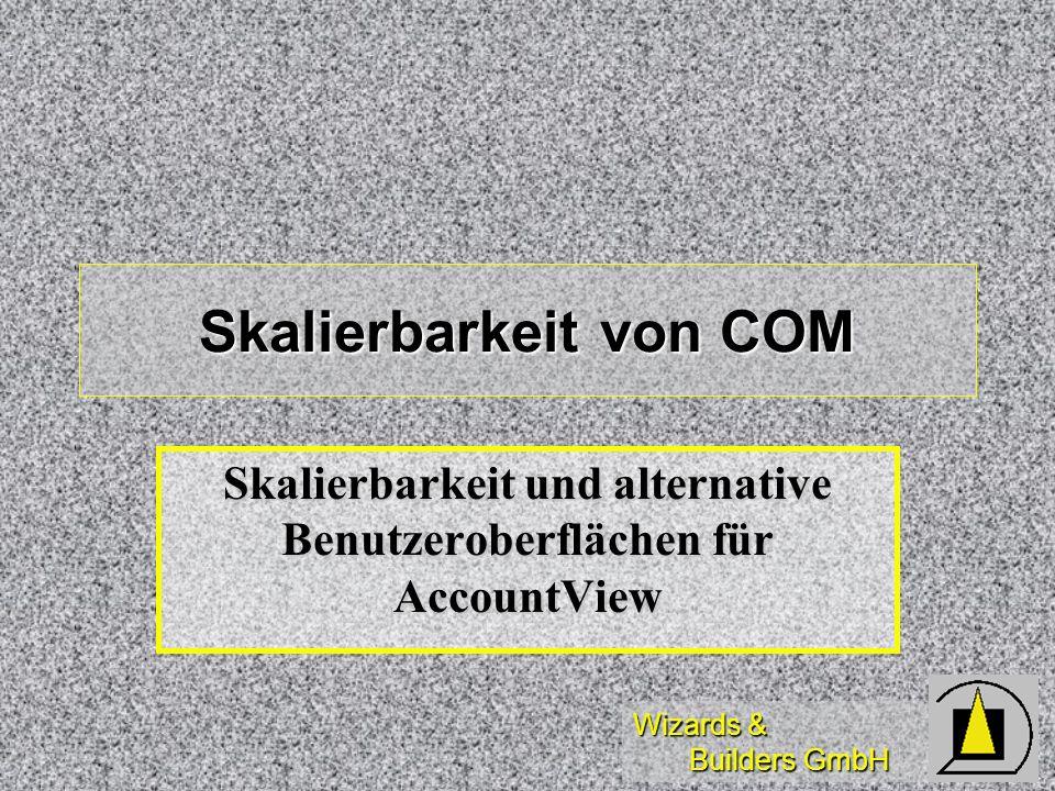 Wizards & Builders GmbH Skalierbarkeit von COM Skalierbarkeit und alternative Benutzeroberflächen für AccountView