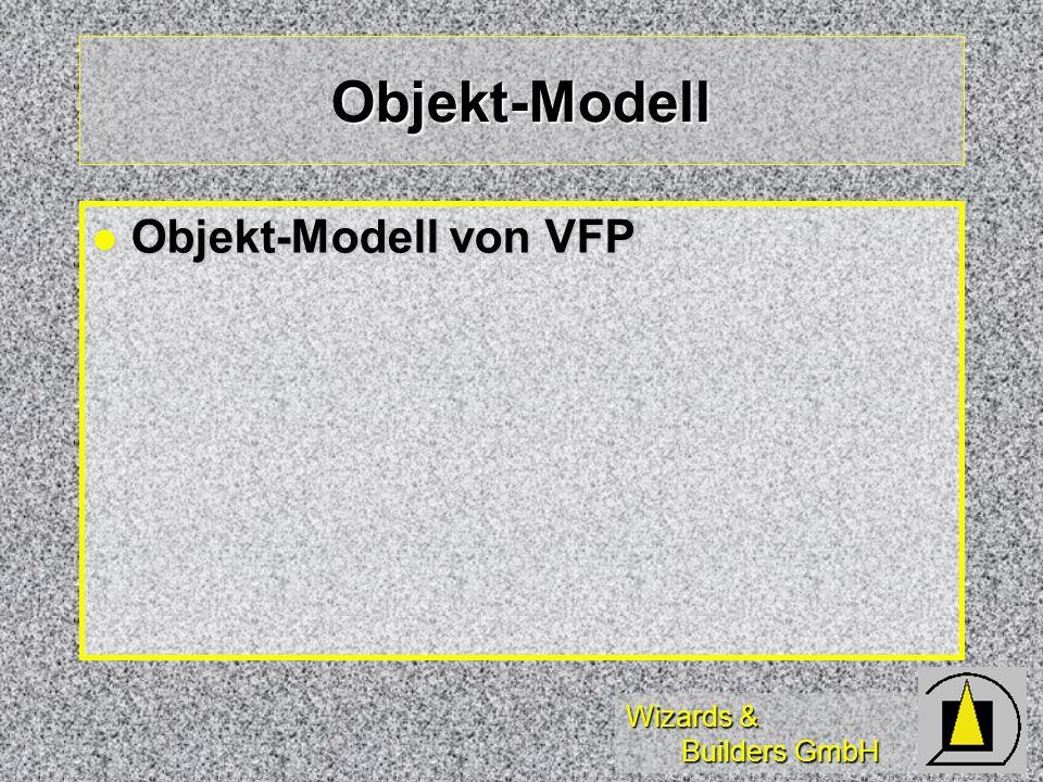 Wizards & Builders GmbH Objekt-Modell Objekt-Modell von VFP Objekt-Modell von VFP