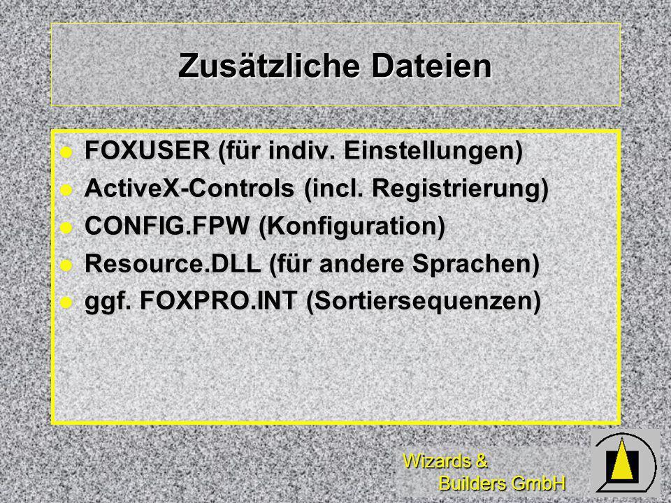 Wizards & Builders GmbH Zusätzliche Dateien FOXUSER (für indiv.