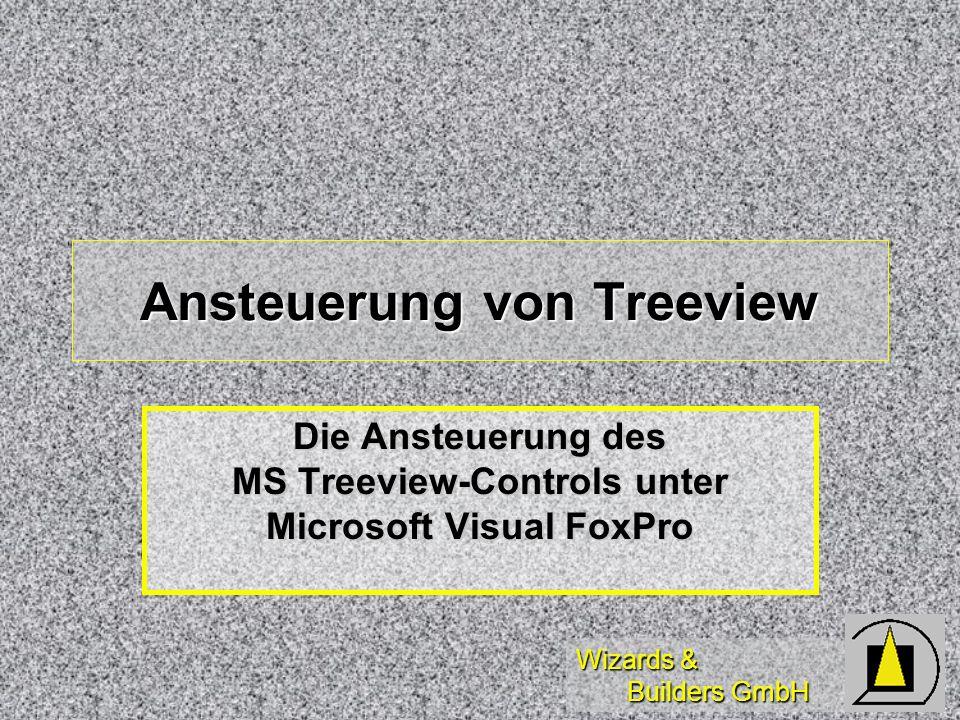Wizards & Builders GmbH Diese Schulung dient der Einführung in die Ansteuerung von Treeview-Controls sowie der Darstellung einer Meta- datengesteuerten Treeview-Klasse unter Microsoft Visual FoxPro