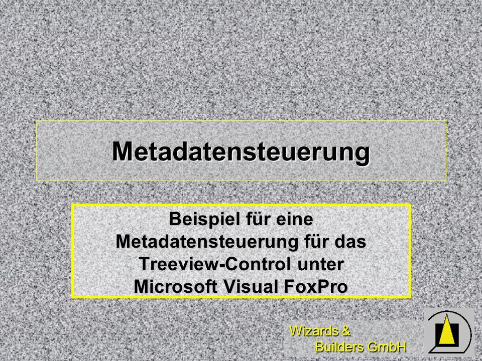 Wizards & Builders GmbH Metadatensteuerung Beispiel für eine Metadatensteuerung für das Treeview-Control unter Microsoft Visual FoxPro