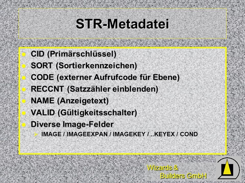 Wizards & Builders GmbH STR-Metadatei CID (Primärschlüssel) CID (Primärschlüssel) SORT (Sortierkennzeichen) SORT (Sortierkennzeichen) CODE (externer A