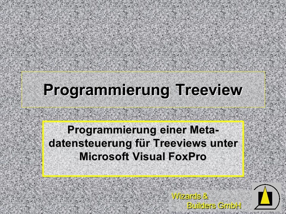 Wizards & Builders GmbH Programmierung Treeview Programmierung einer Meta- datensteuerung für Treeviews unter Microsoft Visual FoxPro