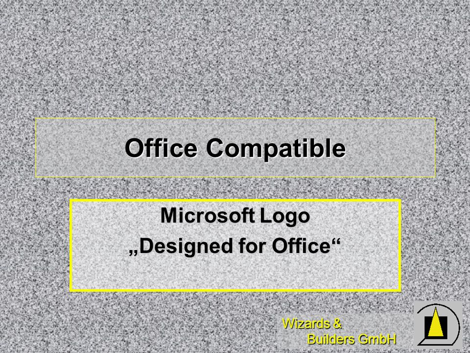 Wizards & Builders GmbH Office Compatible Microsoft Logo Designed for Office